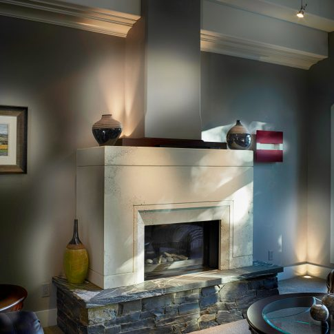Living Room Fire Place Interior - Architecture - Harderlee