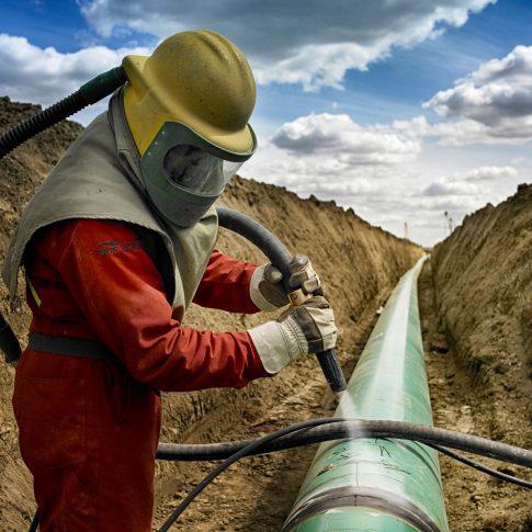 Sand Blasting Pipeline - Industrial - Harderlee