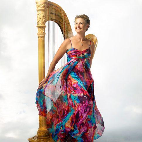 harpist musician woman - portrait - harderlee