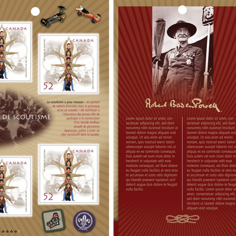 postage stamp - scouts - commercial - harderlee