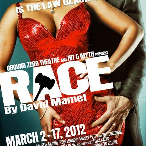 Race Ground Zero theatre - theatre posters - editorial - harderlee