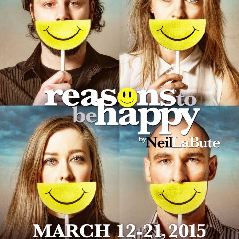 Reasons to Be Happy Ground Zero Theatre - theatre posters - editorial harderlee