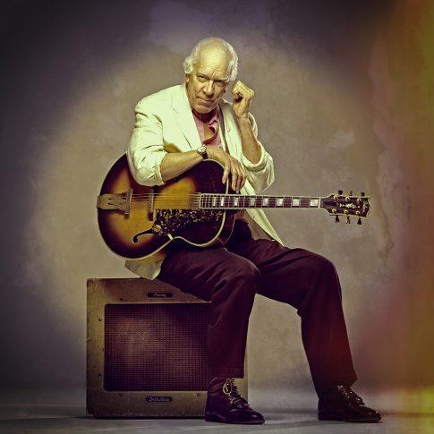 guitar rock and roll amos garrett - portrait - harderlee