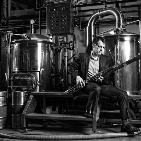 basson in a brewery - portrait - harderlee