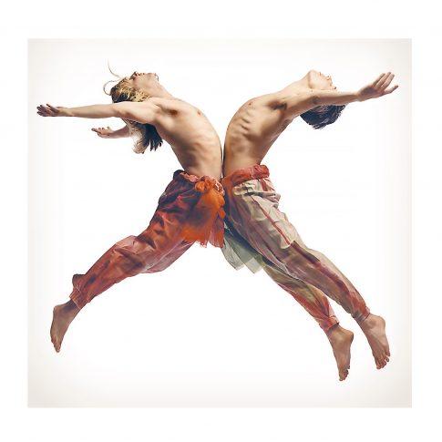male dancers jumping - performing arts - harderlee