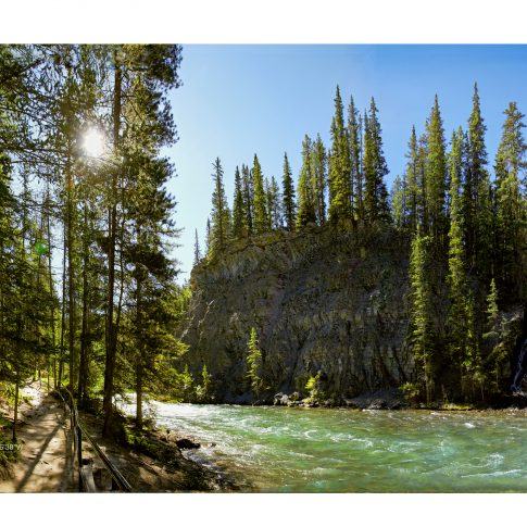 Maligne canyon - editorial - harderlee