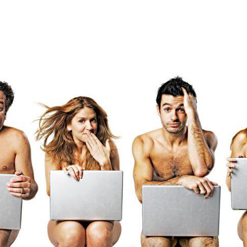 naked people behind laptops - editorial - harderlee